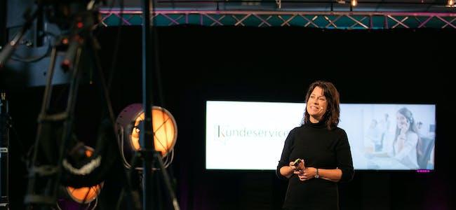 Christine Calvert på scenen