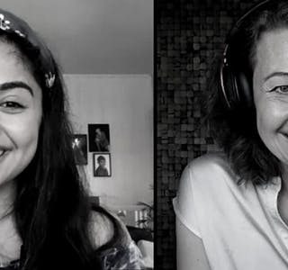 Fra venstre: Kimiya Sajjadi og Silvija Seres (Foto: Lørn University)